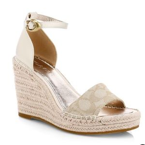Coach Kit Signature Wedge Espadrille Sandals